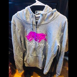 Ecko unlimited grey size xl zip up hoodie